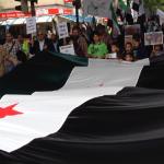 Demo. zur Unterstützung der Revolution in Syrien in Breme