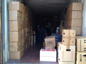 Versand eines Containers mit Hilfsgütern nach Syrien -  01.11.2012