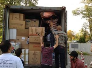 Versand eines Containers mit Hilfsgütern nach Syrie