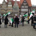 Mahnwache zur Unterstützung der syrischen Revolution in Bremen - 16.03.2013